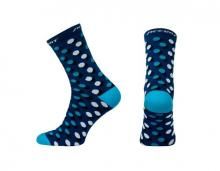 Skarpetki kolarskie Accent Dots Long Niebieskie L