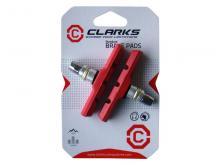 Klocki V-Brake CLARKS CP511 MTB 70mm Czerwone