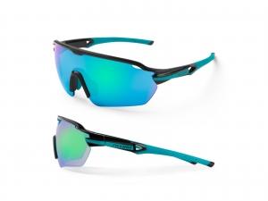 Okulary Accent Reflex Czarno-turkusowe