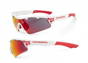 Okulary Accent Stingray biało-czerwone