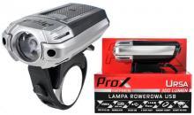 Lampka Przód PROX URSA 1-LED 300LM USB
