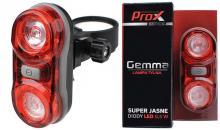 Lampka Tył PROX GEMMA 2 x 0,5W LED Czerwona