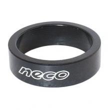 Podkładka sterowa 10mm NECO czarna 1 1/8