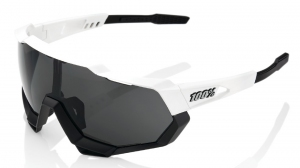 Okulary 100% SPEEDTRAP White/Black - Smole Lens