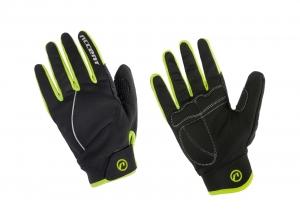 Rękawiczki zimowe ACCENT Snowflake Fluo XS
