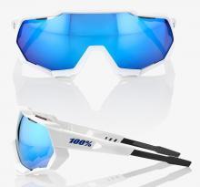 Okulary 100% SPEEDTRAP White Blue Mirror